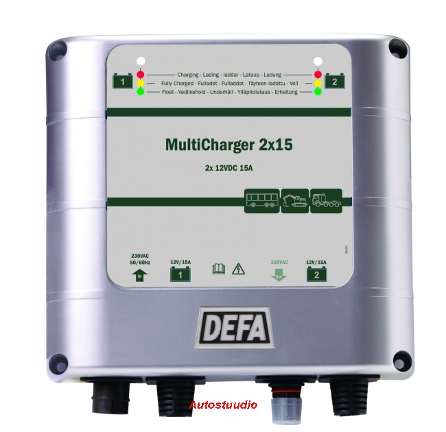 Akulaadija DEFA MultiCharger 2x15A PlugIn