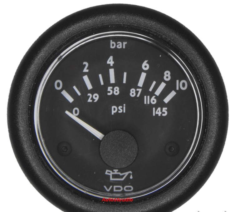 VDO Rõhunäidik 52mm 10 BAR /145PSI 24V, kroom